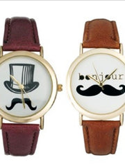 English gentleman mustache watch