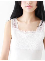 soft lace cotton tank