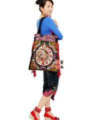 Thai style embroidery shoulder bag