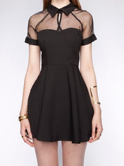 Spring collection - mesh top sweetheart skater dress