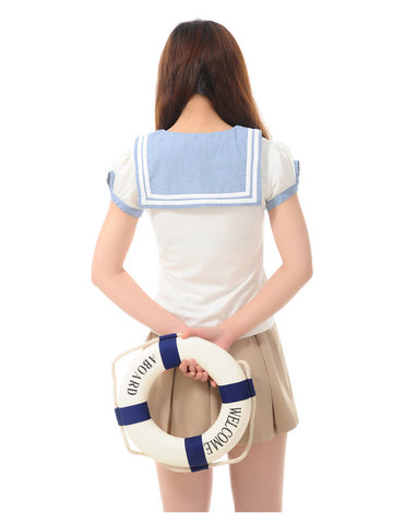 sailor striped bow t-shirt