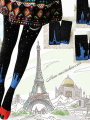 world landmarks stockings