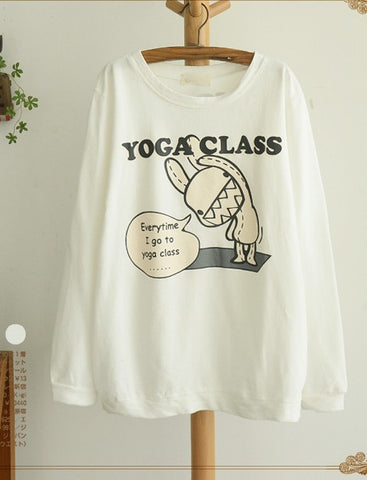 kawaii yoga class long sleeve top