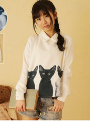 feline friends blouse