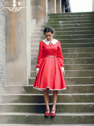 timeless Hepburn impression swing dress