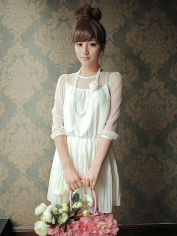 candy dance pleated chiffon dress