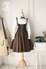 mocha forest cake overall dress
