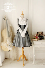 Clearance - grey academy overall dress
