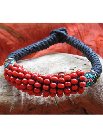 red berry beads bracelet