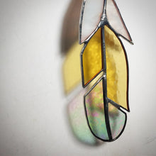 Stained Glass Feather - Yellow