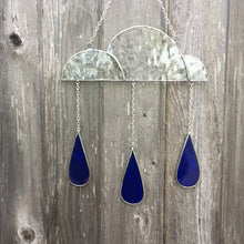 Stained Glass Cloud with Raindrops