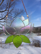 Giant Stained Glass Lotus Flower