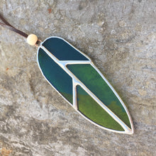 Small Stained Glass Feather **MADE TO ORDER**