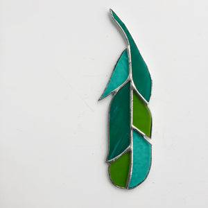 Stained Glass Feather - Green