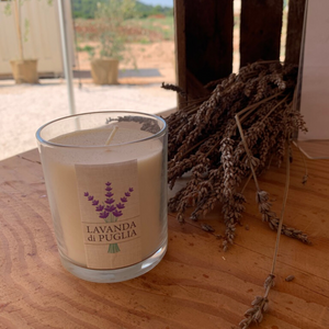 Lavender Candle Italy Natural Big