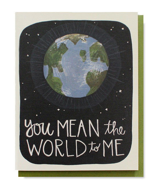 you mean the world to me card - www.mignonshop.com