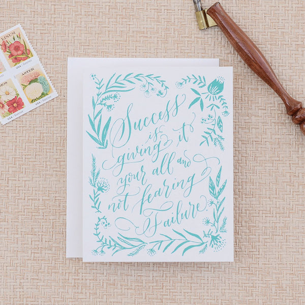 calligraphy success card - www.mignonshop.com - 2