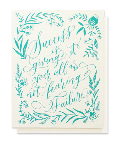 calligraphy success card - www.mignonshop.com - 1
