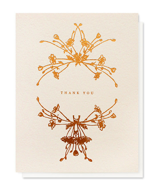 botanical wreath thank you card - www.mignonshop.com - 1