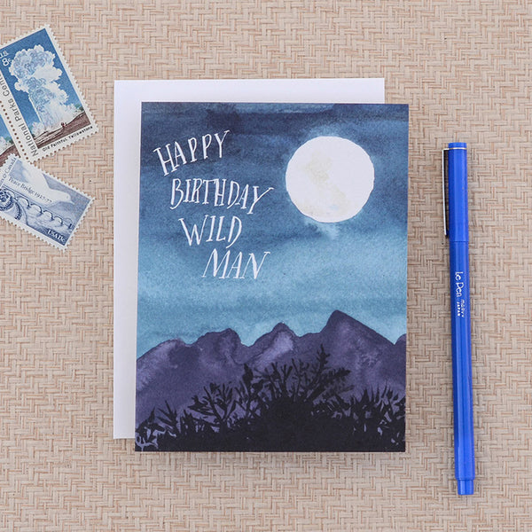 wild man birthday card - www.mignonshop.com - 2