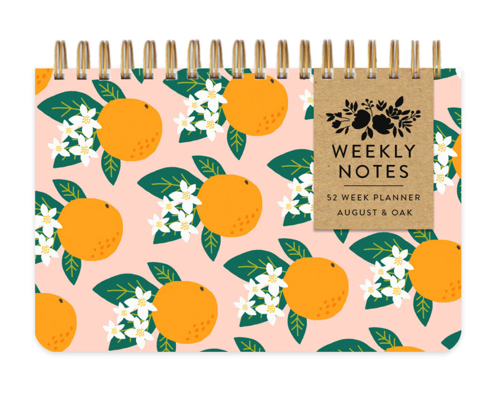 orange blossom weekly planner