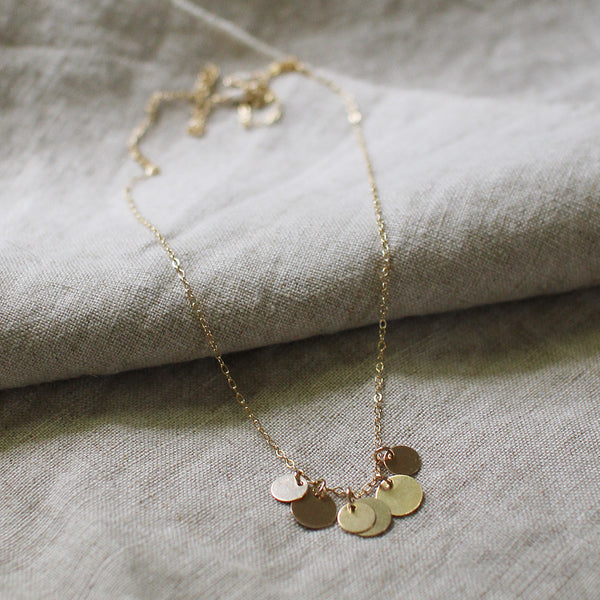 bellissima gold coin necklace - www.mignonshop.com - 2