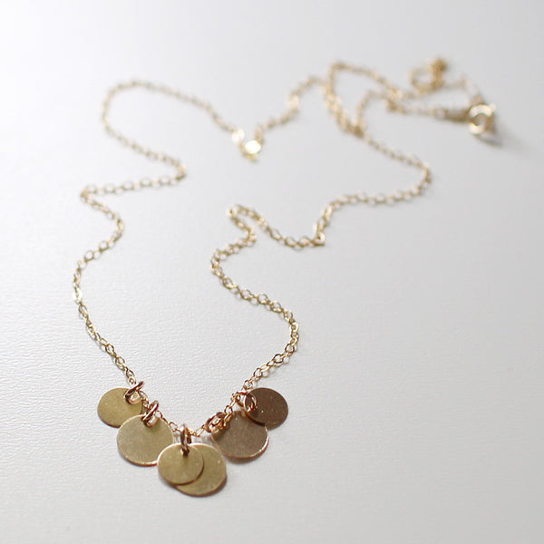 bellissima gold coin necklace - www.mignonshop.com - 3