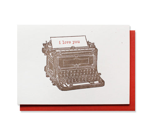 i love you typewriter card - www.mignonshop.com