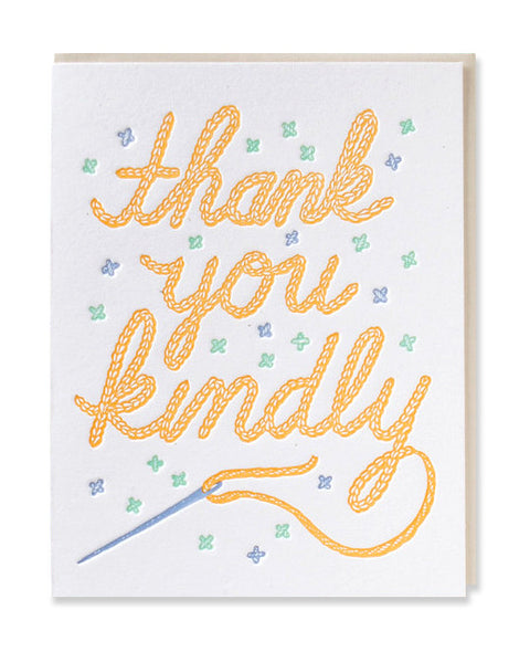 thank you kindly card - www.mignonshop.com
