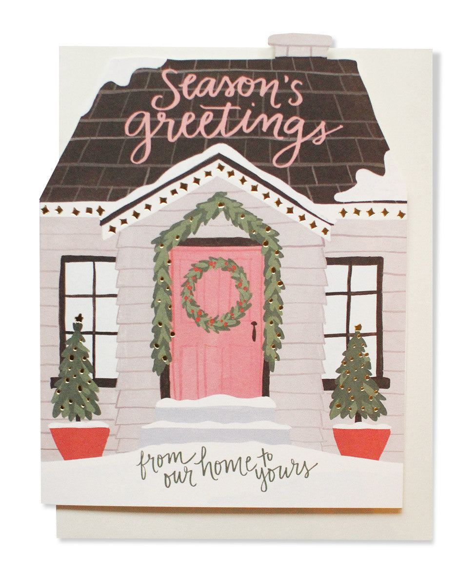 holiday house cutout card - www.mignonshop.com