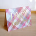 plaid happy birthday card - www.mignonshop.com - 2
