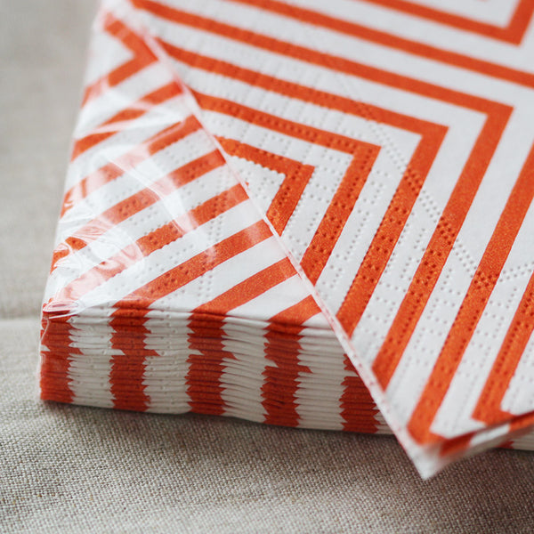 orange chevron napkins - www.mignonshop.com - 4