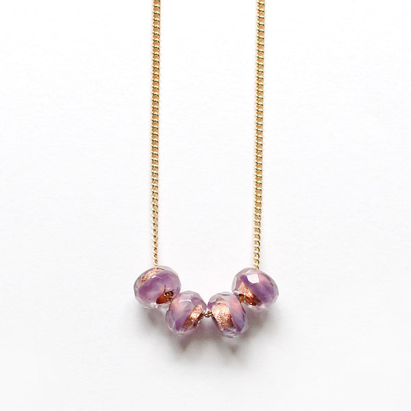 cuatro in lavender necklace