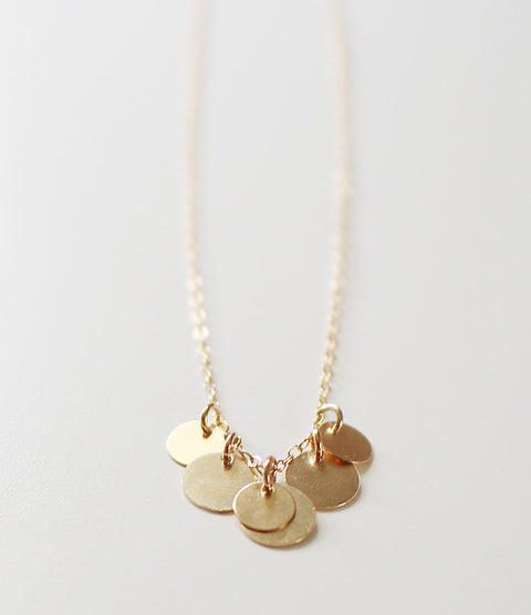 bellissima gold coin necklace - www.mignonshop.com - 1