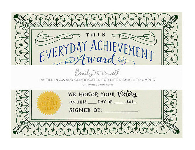 everyday achievement certificates - www.mignonshop.com - 1