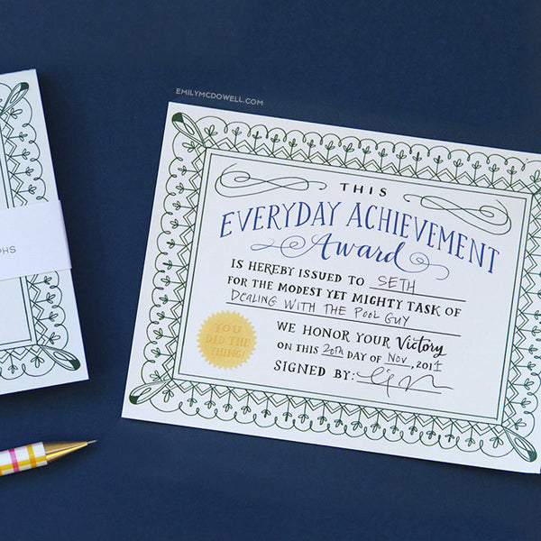 everyday achievement certificates - www.mignonshop.com - 3