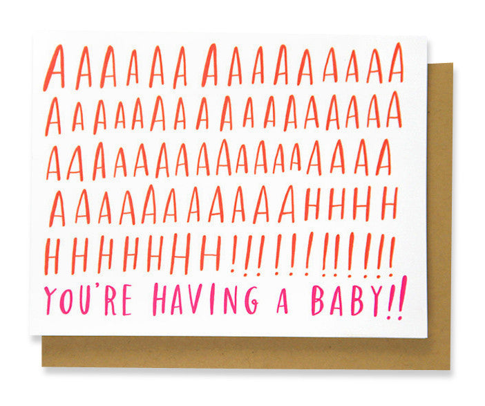 aaaaahh you're having a baby card - www.mignonshop.com