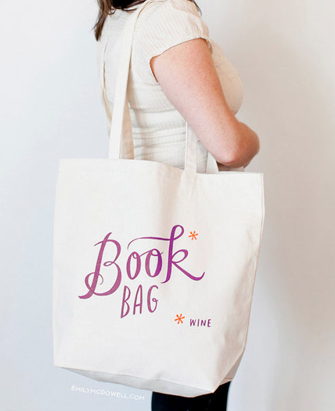 book/wine emily mcdowell tote bag - www.mignonshop.com - 1