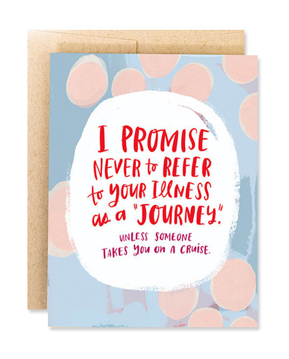 illness is not a journey card - www.mignonshop.com