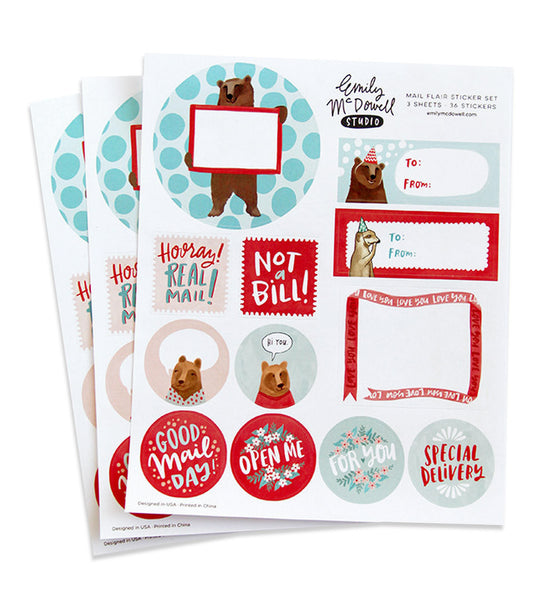 everyday mail flair stickers - www.mignonshop.com - 2