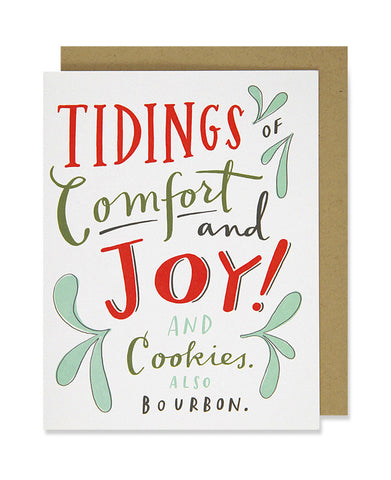 cookies and bourbon holiday card - www.mignonshop.com