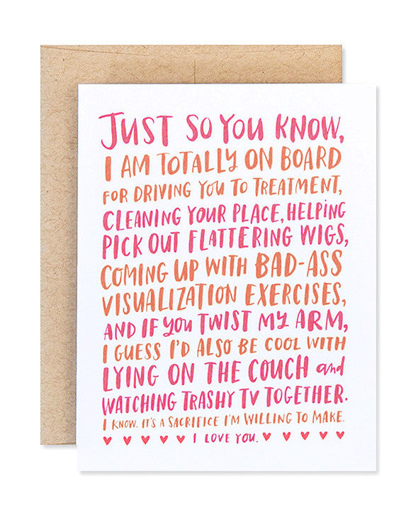 friendship through cancer card - www.mignonshop.com