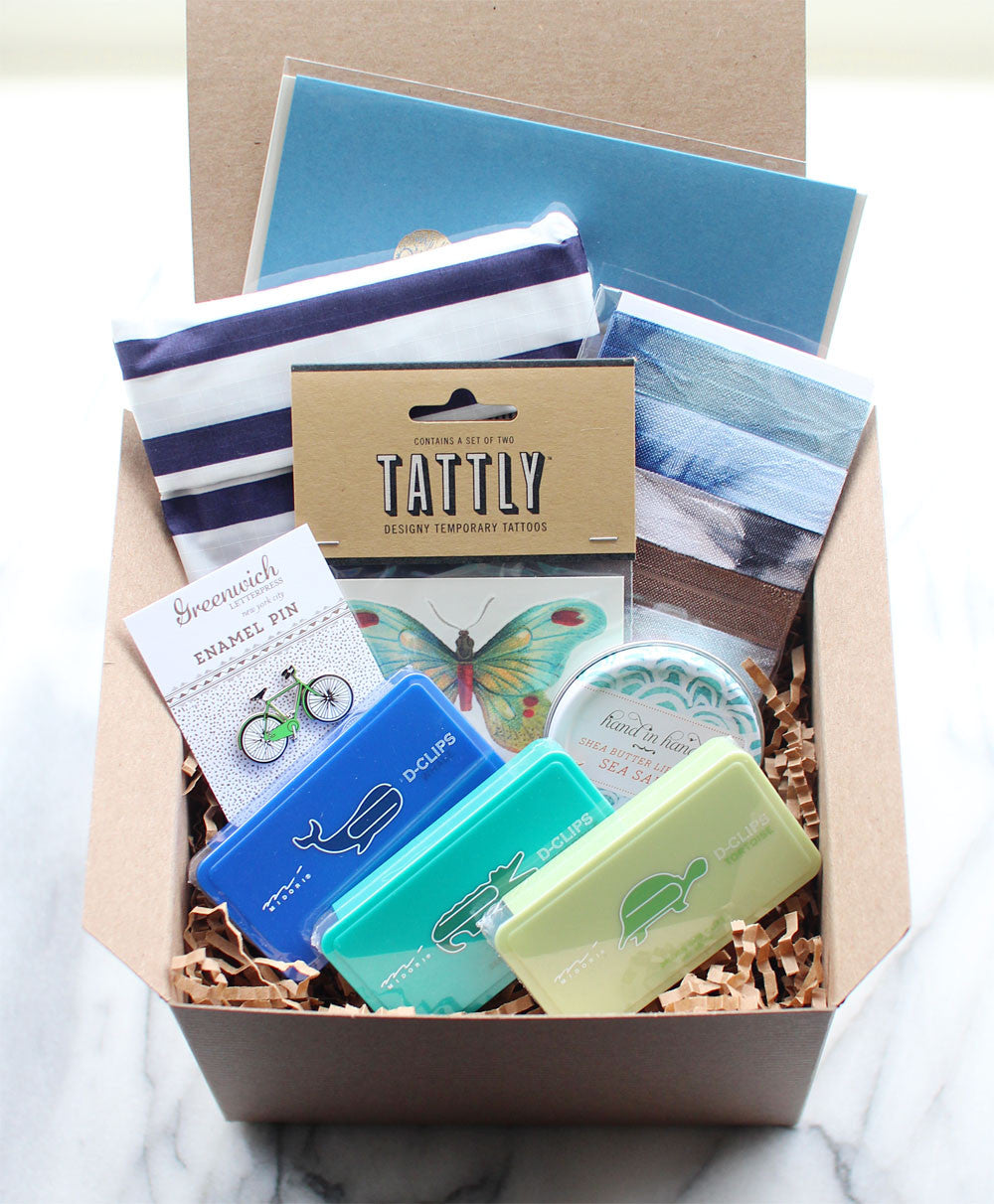 gift box no. 9 (blues and greens)