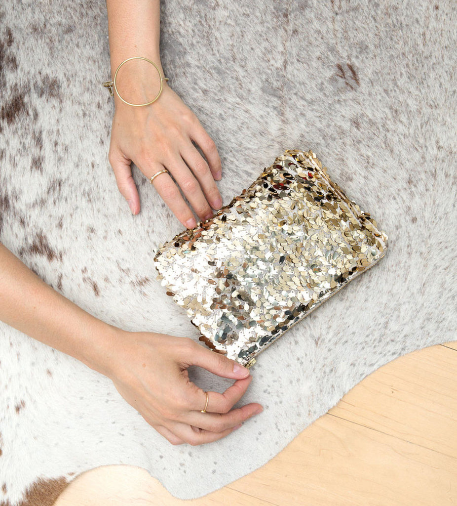 gold sequin clutch - www.mignonshop.com - 1