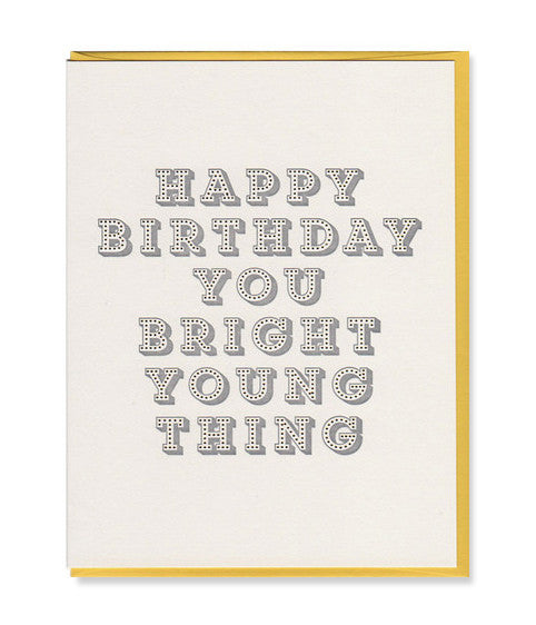 bright young thing birthday card - www.mignonshop.com