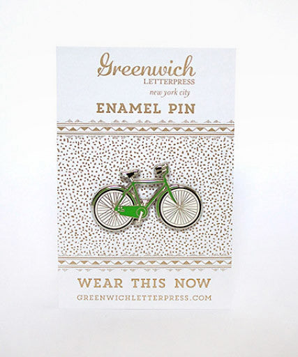 enamel bicycle pin - www.mignonshop.com - 2