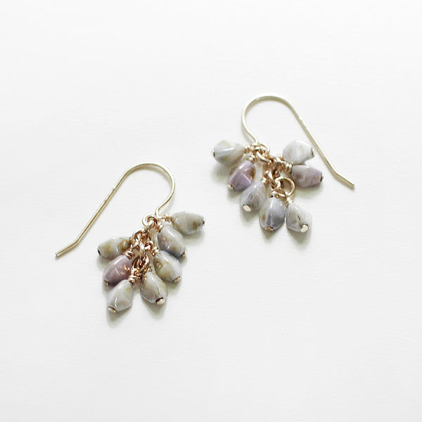 gretel earrings in mottled tones - www.mignonshop.com - 2