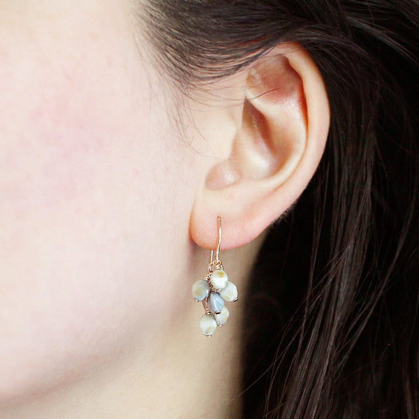 gretel earrings in mottled tones - www.mignonshop.com - 3