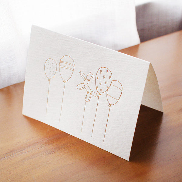 birthday balloons card - www.mignonshop.com - 2