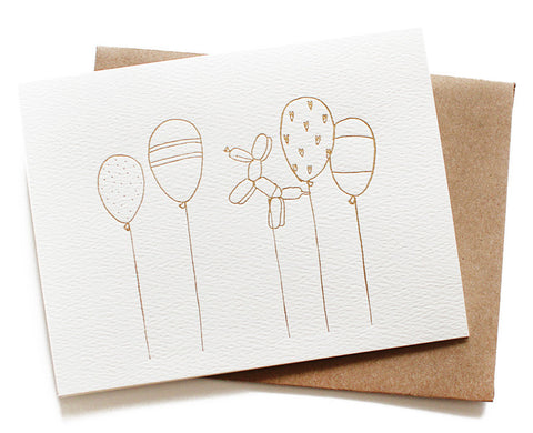 birthday balloons card - www.mignonshop.com - 1